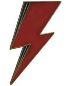 David Bowie Lightning Bolt pin badge  33mm x 15mm   (cv)